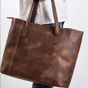 Bags - Genuine Leather Large Tote!! Perfect Condition!